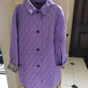 Authentic Burberry quilted lightweight jacket